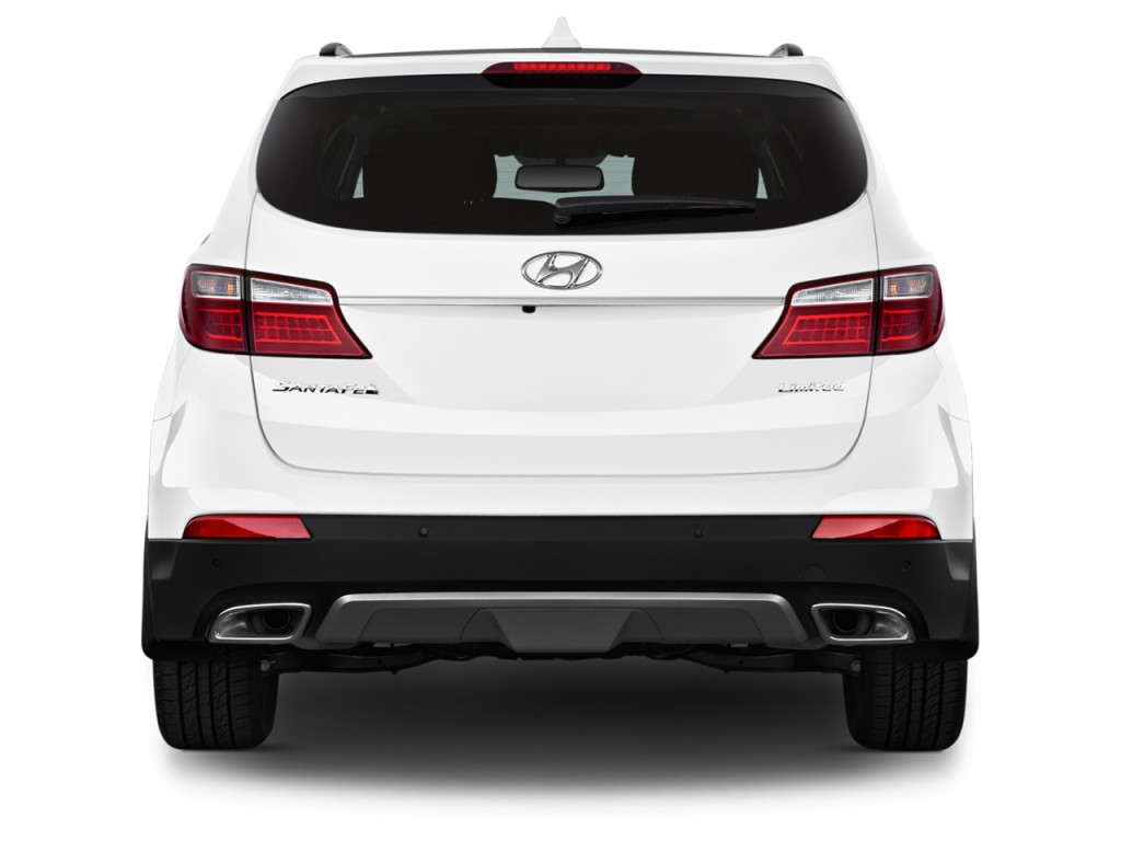 Image 2016 hyundai santa fe fwd 4 door limited rear for Rear exterior door
