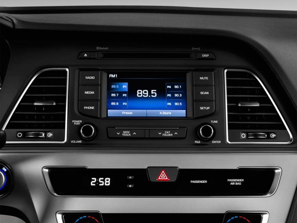 Image 2016 Hyundai Sonata Hybrid 4 Door Sedan Se Audio