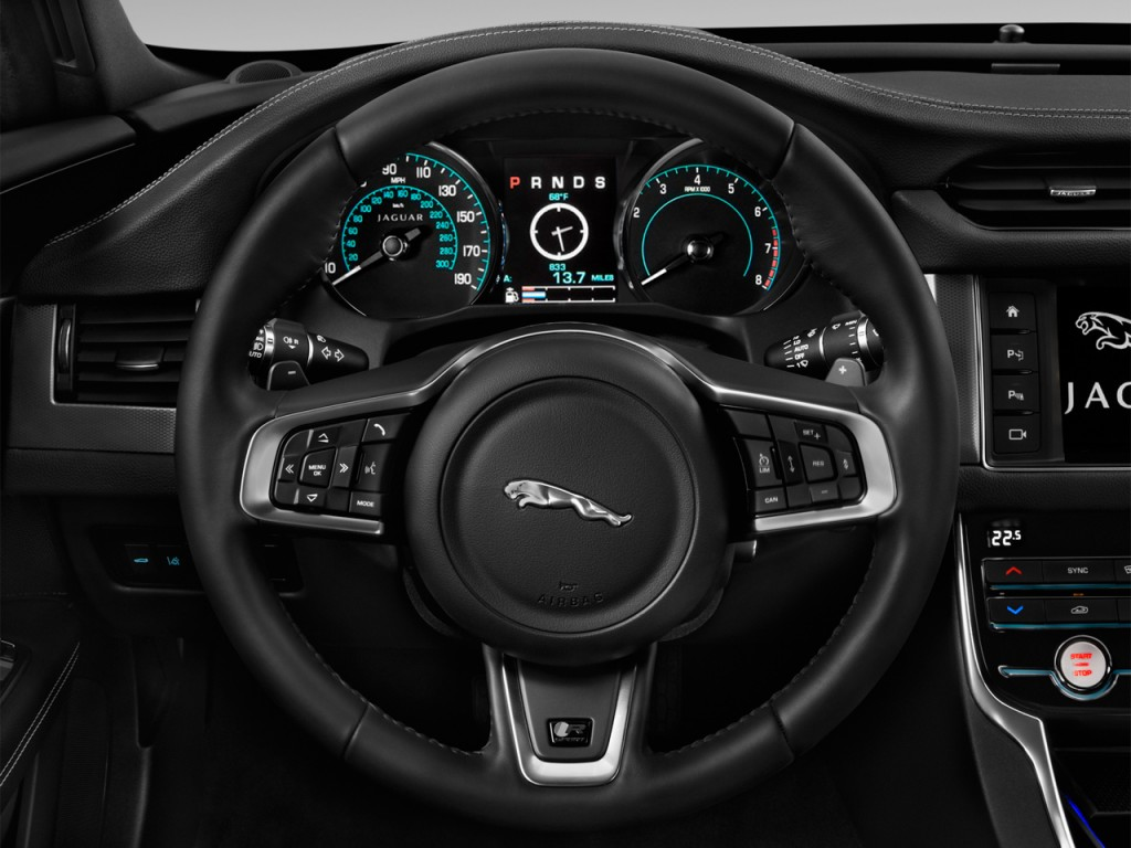 2017 Jaguar Xe 35T R Sport >> Image: 2016 Jaguar XF 4-door Sedan 35t R-Sport RWD Steering Wheel, size: 1024 x 768, type: gif ...