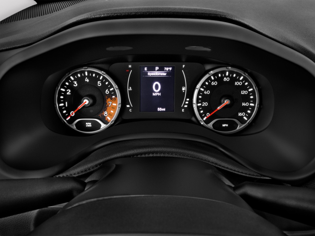 Jeep Renegade Police Car >> Image: 2016 Jeep Renegade FWD 4-door Sport Instrument Cluster, size: 1024 x 768, type: gif ...