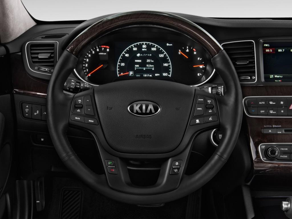 Image: 2016 Kia Cadenza 4-door Sedan Steering Wheel, size ...