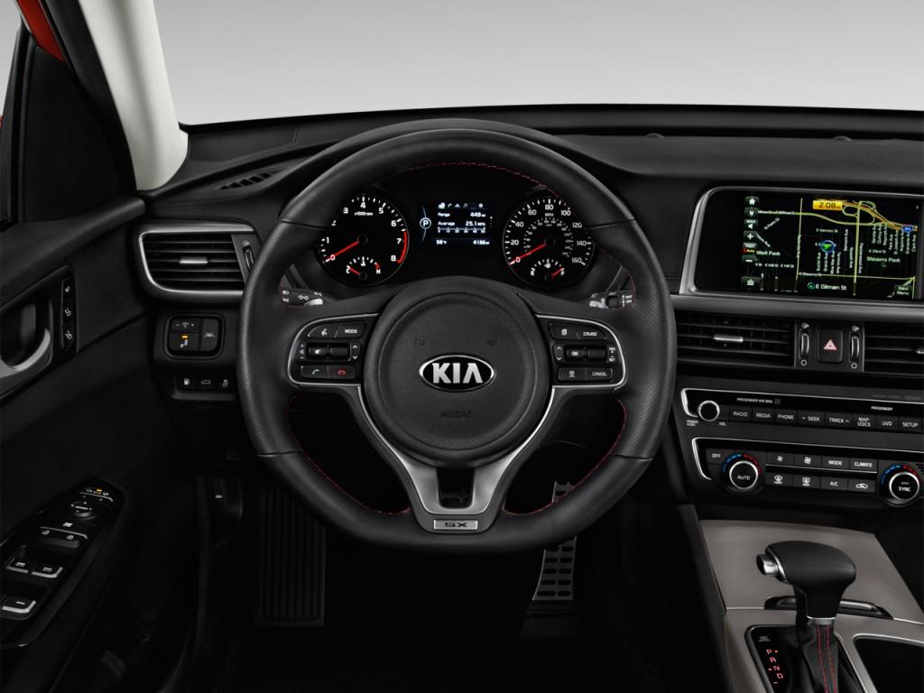 image 2016 kia optima 4 door sedan sx turbo steering. Black Bedroom Furniture Sets. Home Design Ideas