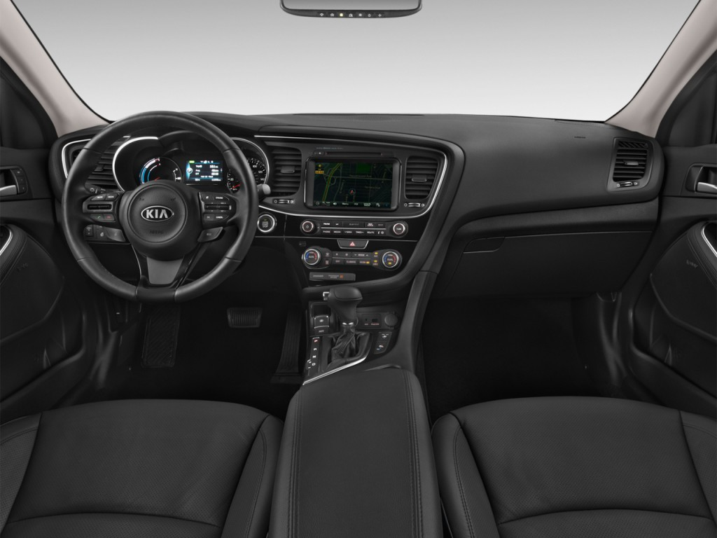Image: 2016 Kia Optima Hybrid 4-door Sedan EX Dashboard ...