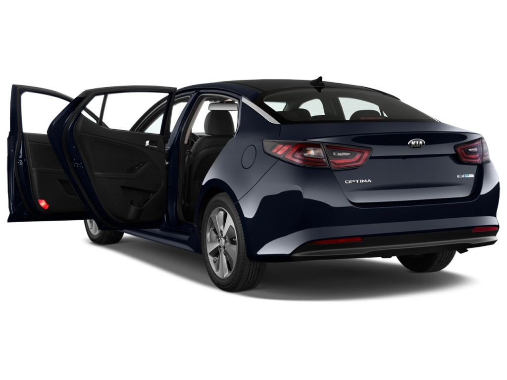 Image: 2016 Kia Optima Hybrid 4-door Sedan EX Open Doors ...