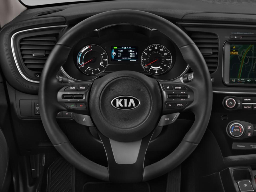 Image: 2016 Kia Optima Hybrid 4-door Sedan EX Steering ...