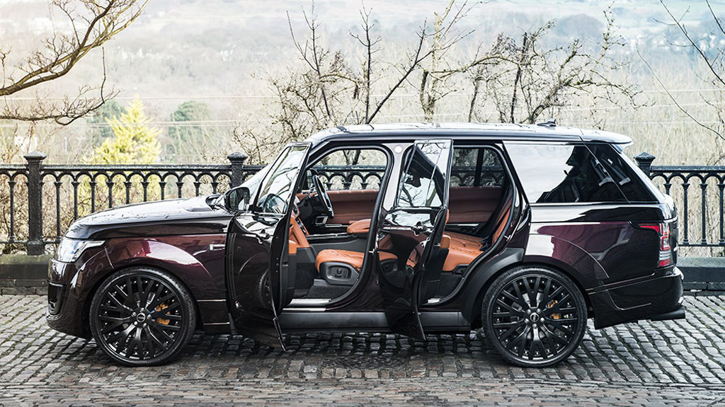 kahn design shows off two very bespoke range rovers. Black Bedroom Furniture Sets. Home Design Ideas