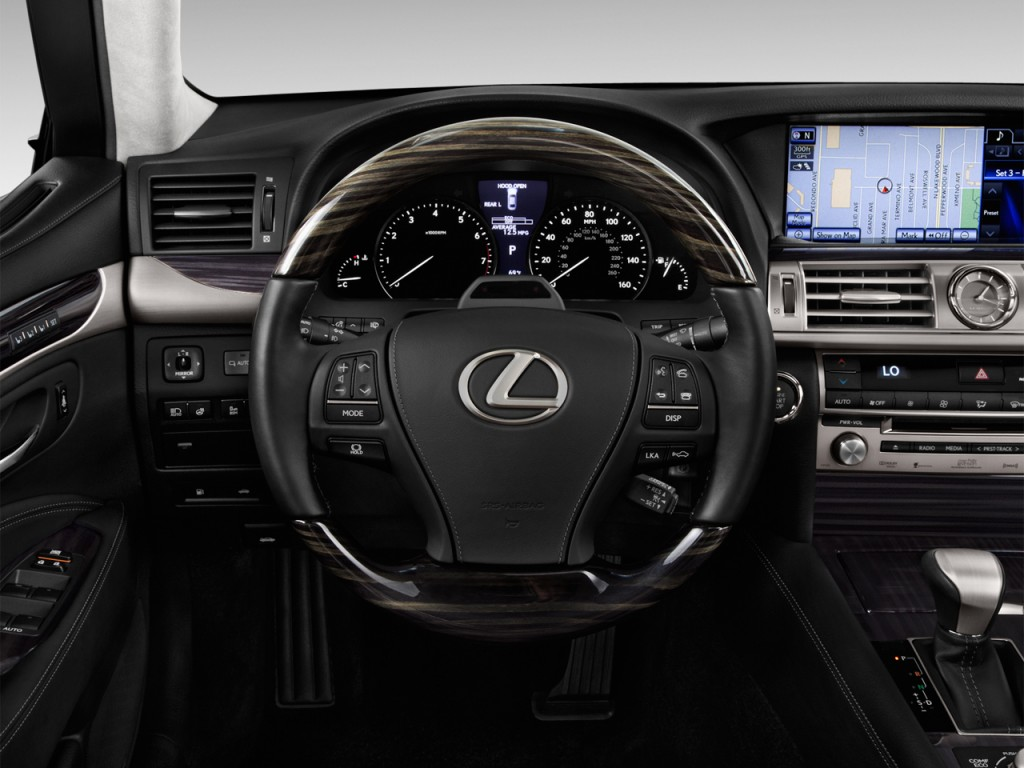 Image: 2016 Lexus LS 460 4-door Sedan L RWD Steering Wheel ...
