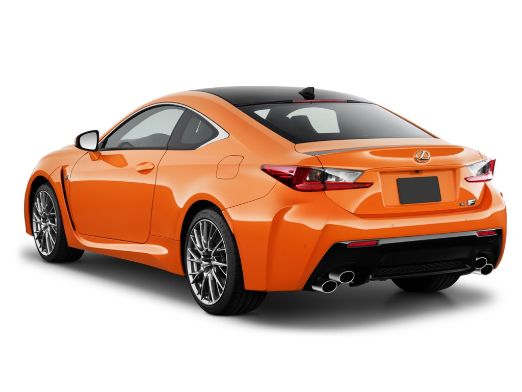 Image 2016 lexus rc f 2 door coupe angular rear exterior for Door 2 door cars