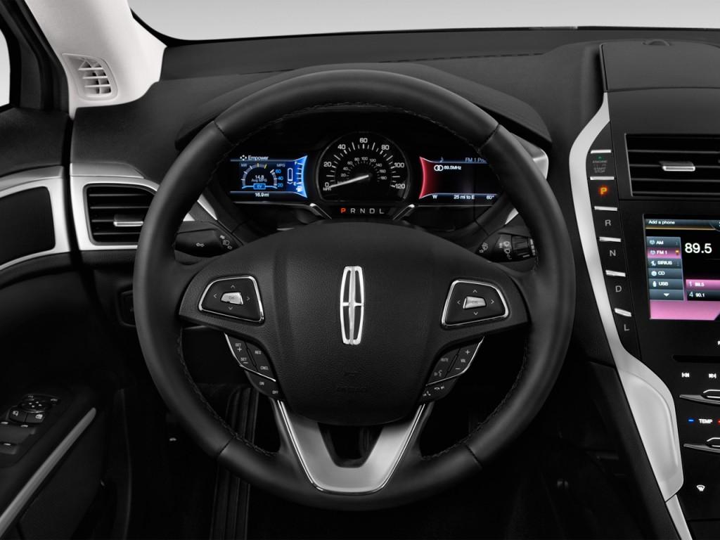 2012 Lincoln Mkz Hybrid Review >> Image: 2016 Lincoln MKZ 4-door Sedan Hybrid FWD Steering ...