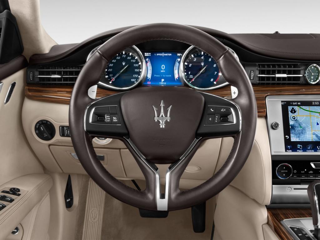 image  maserati quattroporte  door sedan quattroporte   steering wheel size