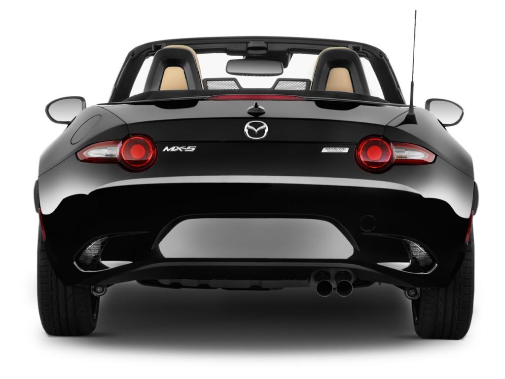 image 2016 mazda mx 5 miata 2 door convertible auto grand touring rear exterior view size. Black Bedroom Furniture Sets. Home Design Ideas
