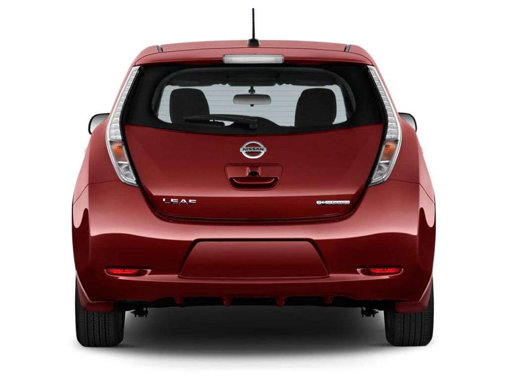 Image 2016 Nissan Leaf 4 Door Hb S Rear Exterior View