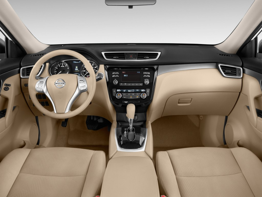 Image: 2016 Nissan Rogue FWD 4-door SV Dashboard, size ...