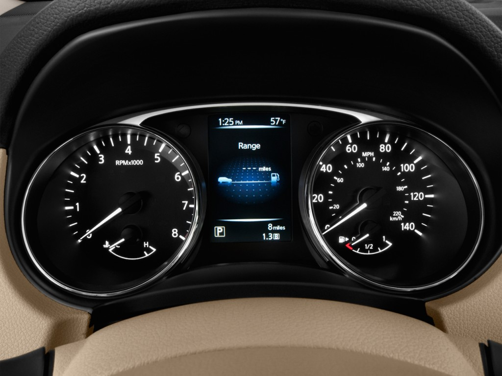 Nissan Maxima Coupe >> Image: 2016 Nissan Rogue FWD 4-door SV Instrument Cluster, size: 1024 x 768, type: gif, posted ...