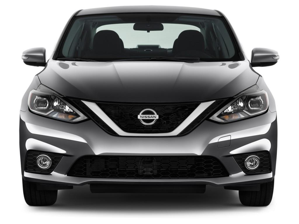 Image: 2016 Nissan Sentra 4-door Sedan I4 CVT SR Front Exterior View, size: 1024 x 768, type ...