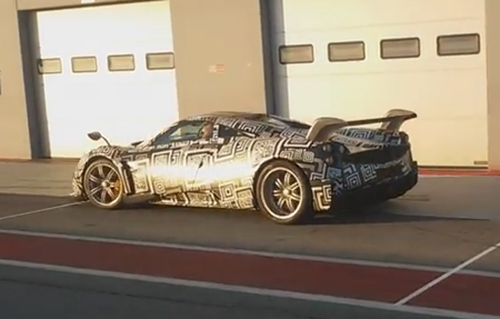 2016 Pagani Huayra R Prototype Spied With Mive Rear Wing: Video
