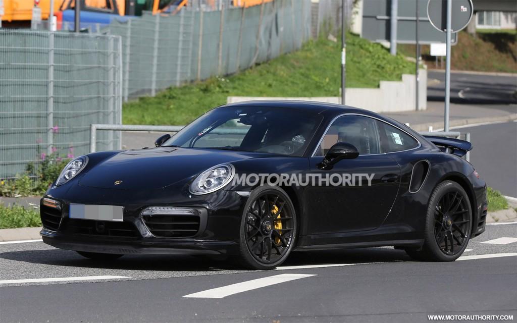 2016 Porsche 911 Turbo Spy Shots With Interior