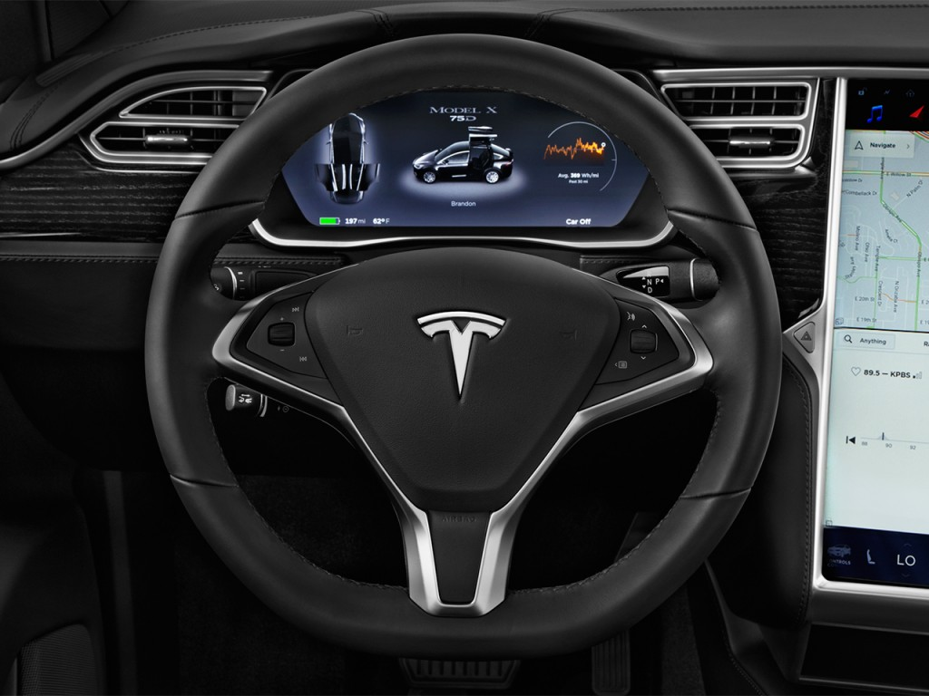Image: 2016 Tesla Model X AWD 4-door 75D Steering Wheel ...