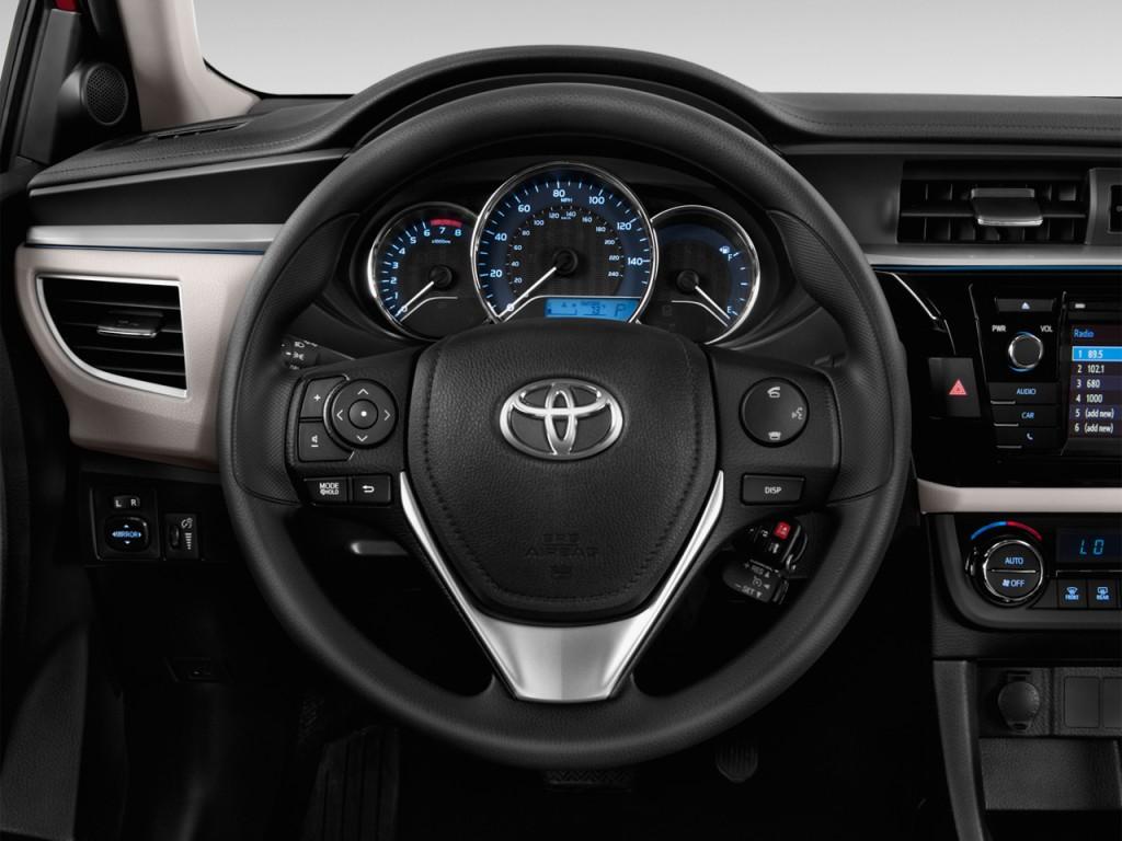 image 2016 toyota corolla 4 door sedan cvt le plus natl steering wheel size 1024 x 768. Black Bedroom Furniture Sets. Home Design Ideas