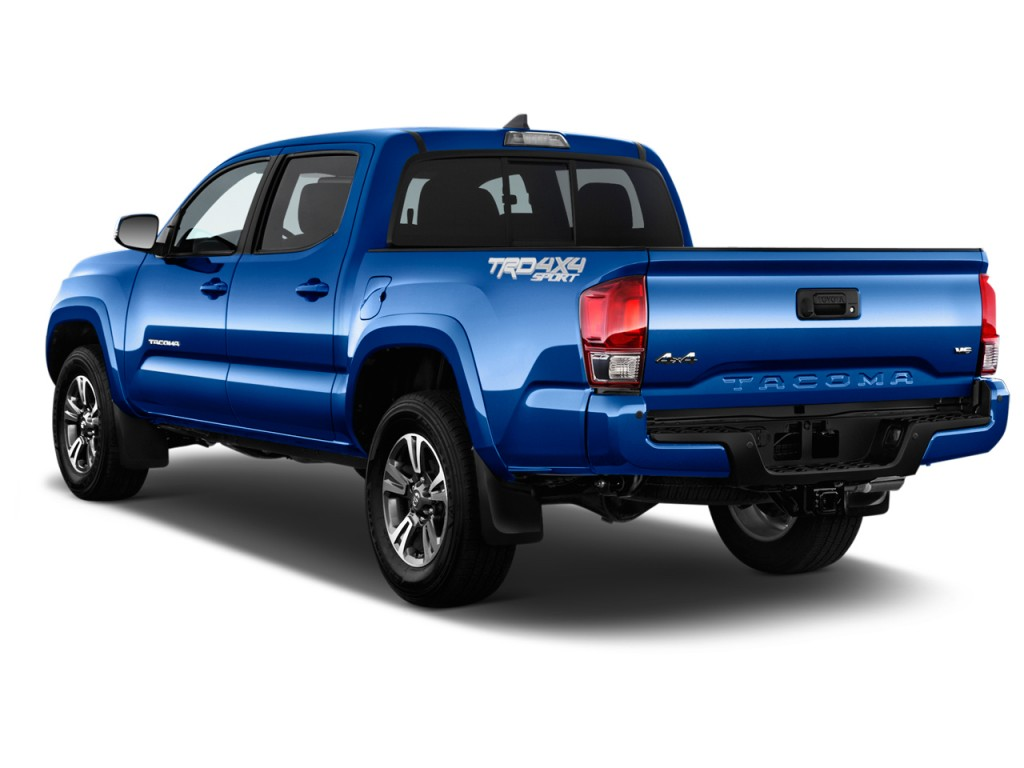image 2016 toyota tacoma 2wd double cab v6 at trd sport natl angular rear exterior view size. Black Bedroom Furniture Sets. Home Design Ideas