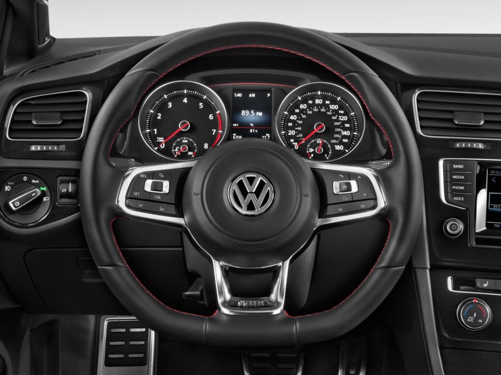 Image: 2016 Volkswagen Golf GTI 4-door HB DSG SE Steering Wheel, size: 1024 x 768, type: gif ...