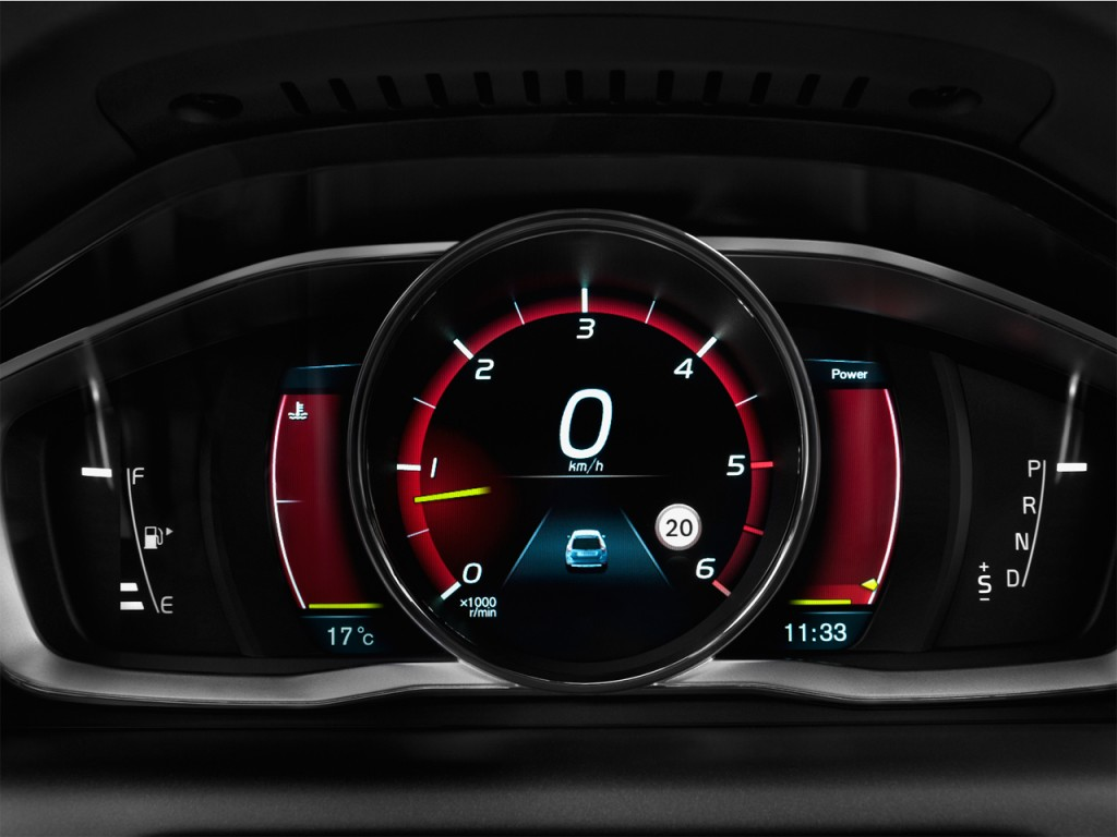 Image: 2016 Volvo XC60 AWD 4-door T6 R-Design Instrument Cluster, size: 1024 x 768, type: gif ...