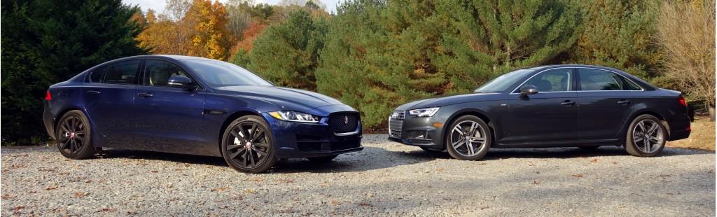 jaguar xe vs audi a4 a luxury compact confrontation