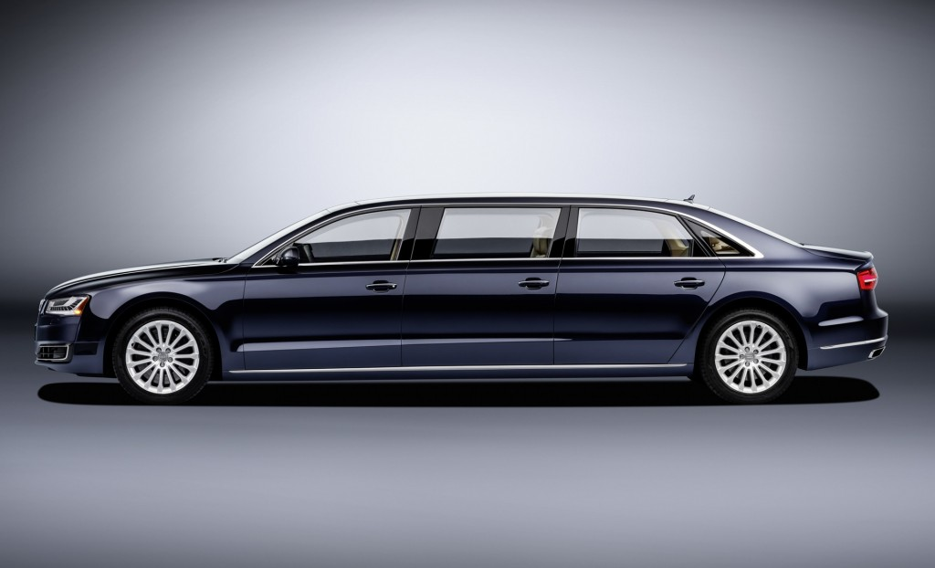 & Audi rolls out 21-foot 6-door A8 L Extended