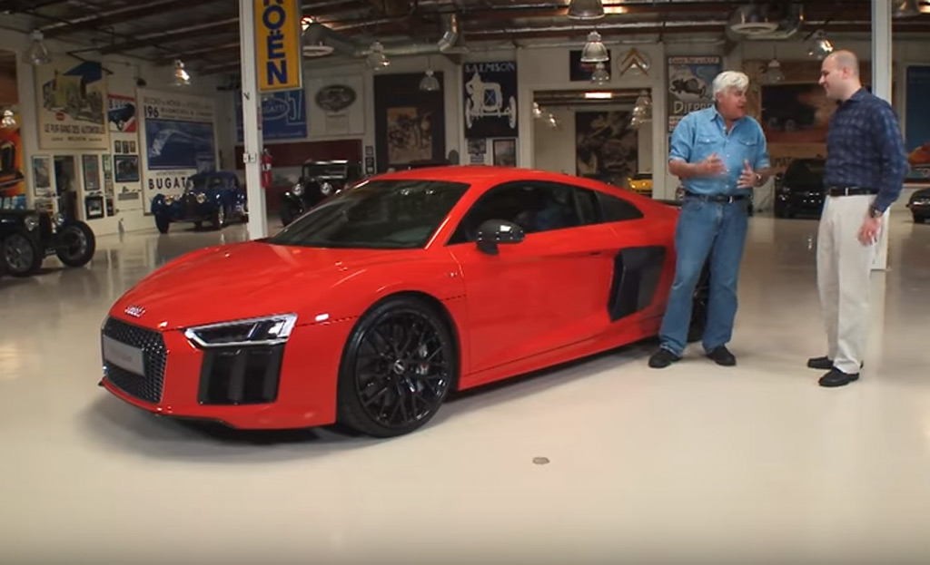 jay leno drives the 2017 audi r8 video