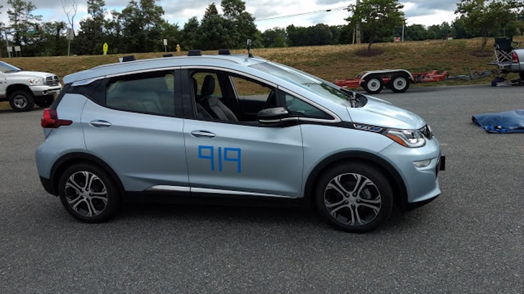 2017 Chevrolet Bolt EV autocrossing, Photo: Brian Ro