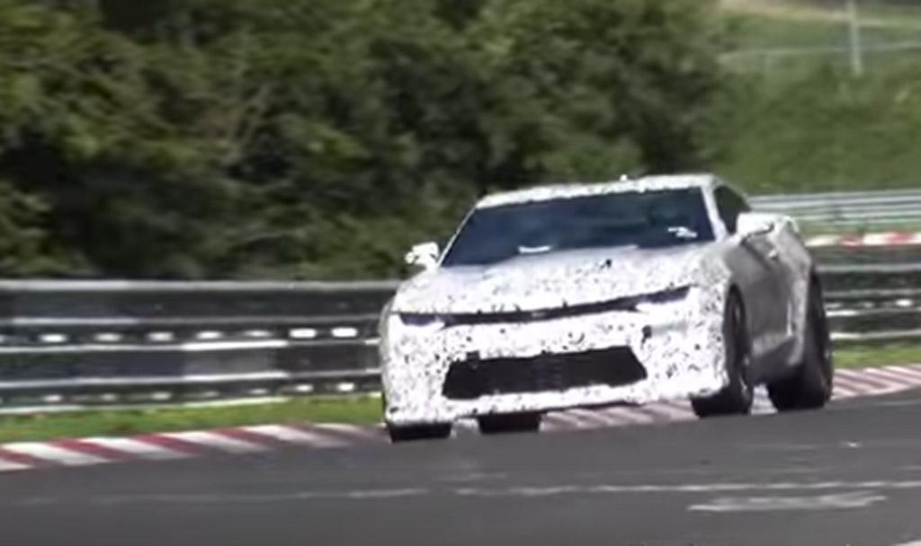 2017 Chevrolet Camaro 1LE testing at the Nürburgring