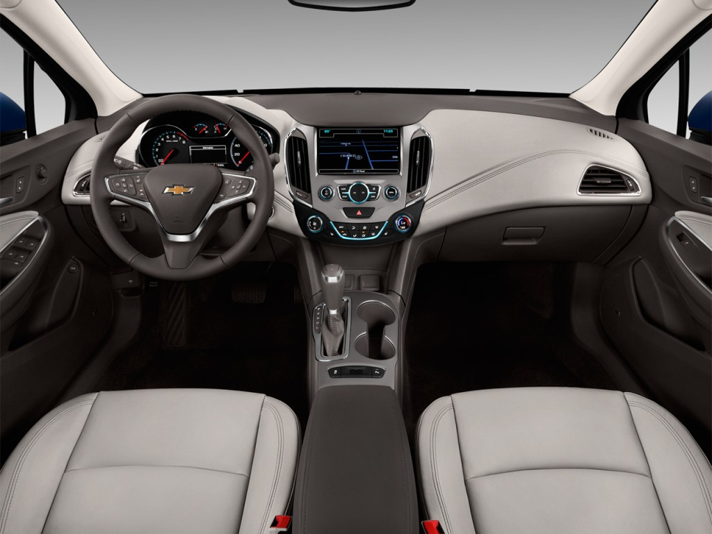 Image: 2017 Chevrolet Cruze 4-door Sedan 1.4L Premier w/1SF Dashboard, size: 1024 x 768, type ...