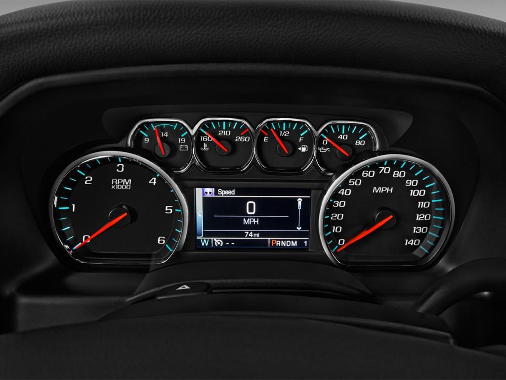 "2003 Chevrolet Silverado 2500Hd >> Image: 2017 Chevrolet Silverado 1500 2WD Crew Cab 143.5"" LT w/1LT Instrument Cluster, size: 1024 ..."