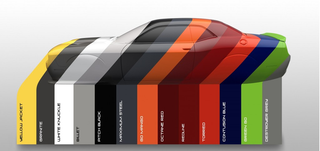 Dodge Releases List Of Heritage Colors For 2017