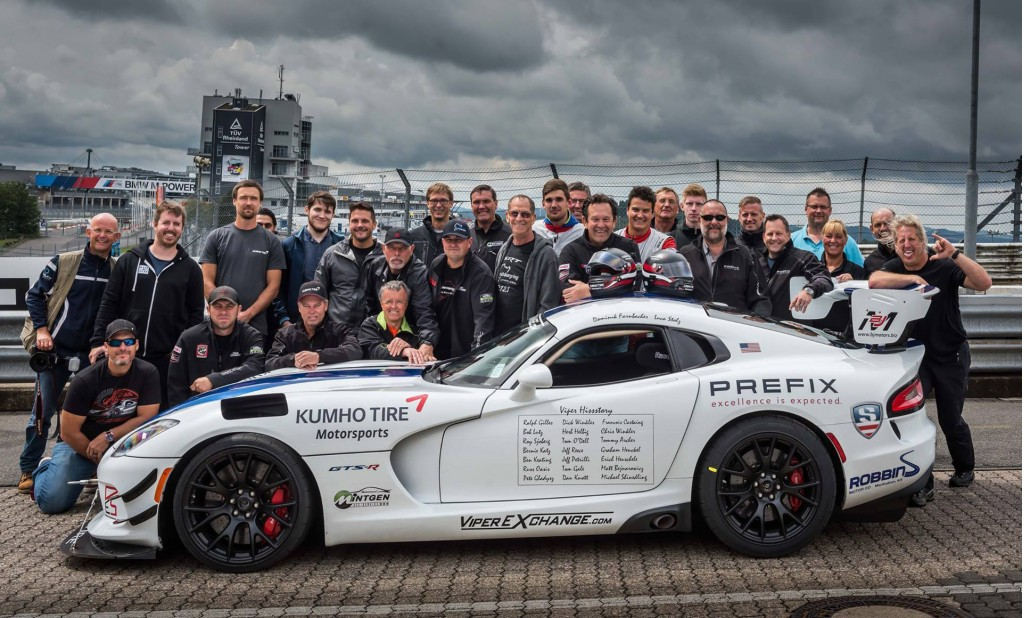 2017 Dodge Viper ACR in preparation for Nürburgring lap record attempt - Image via Prefix