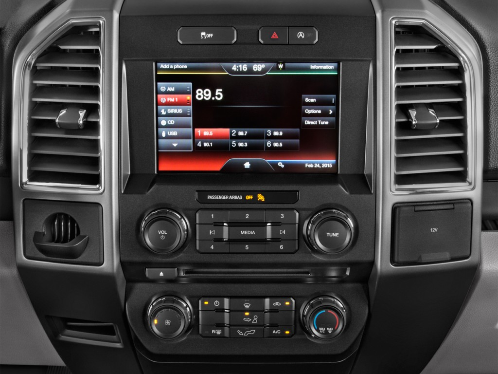 Image: 2017 Ford F-150 XLT 2WD SuperCab 6.5' Box Audio System, size: 1024 x 768, type: gif ...