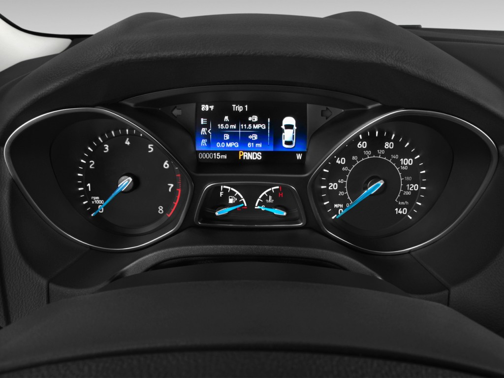 Used Ford Fusion 2013 >> Image: 2017 Ford Focus SE Hatch Instrument Cluster, size ...