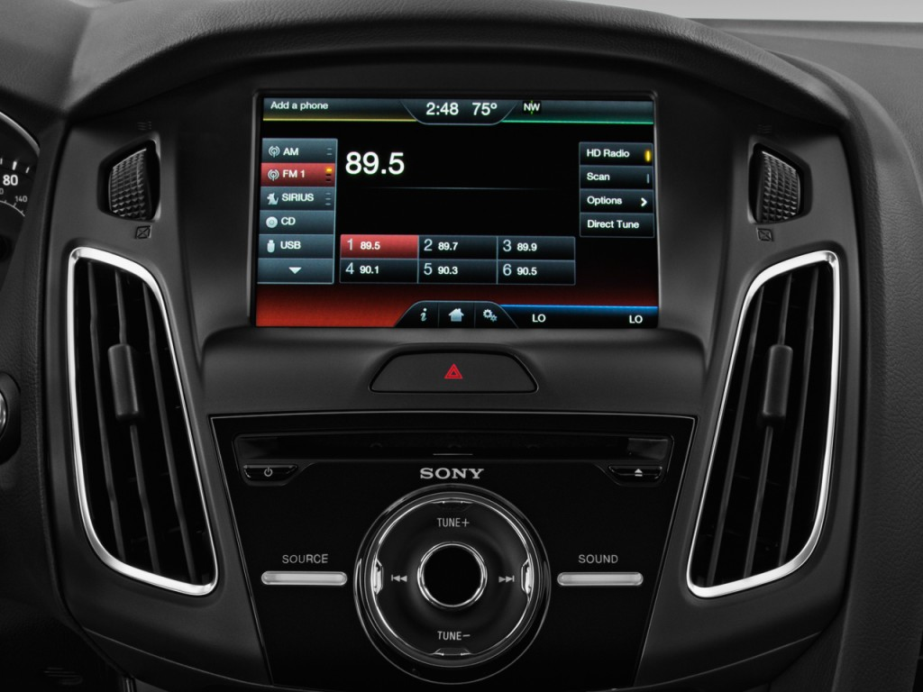Image 2017 Ford Focus Titanium Sedan Audio System Size
