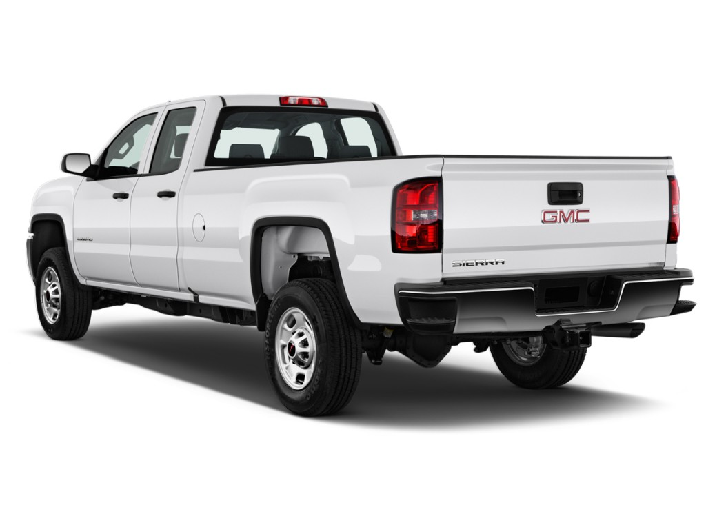 image 2017 gmc sierra 2500hd 2wd double cab 144 2 angular rear exterior view size 1024 x 768. Black Bedroom Furniture Sets. Home Design Ideas