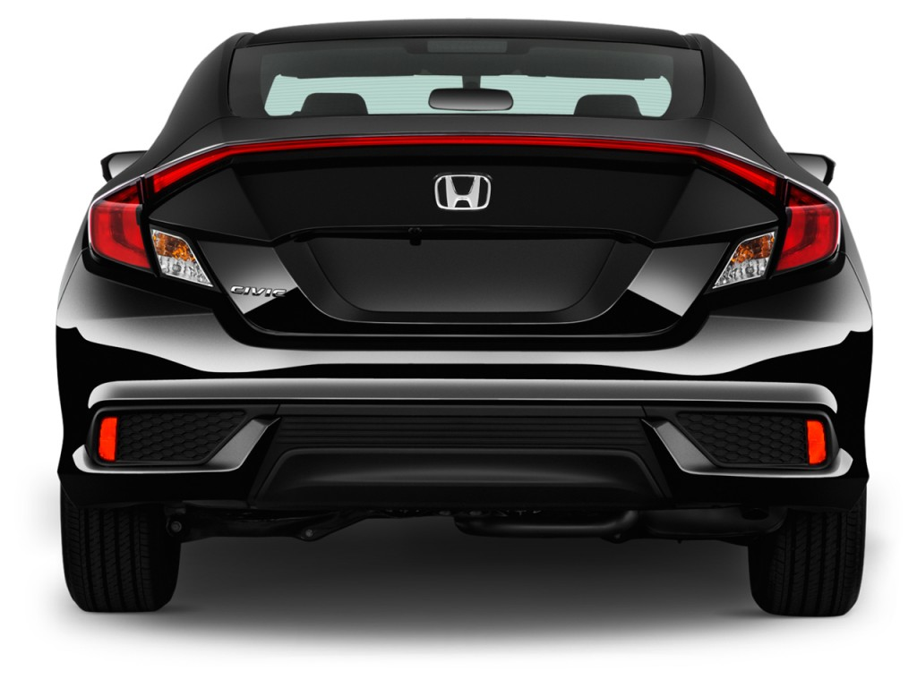 Image: 2017 Honda Civic Coupe LX Manual Rear Exterior View ...