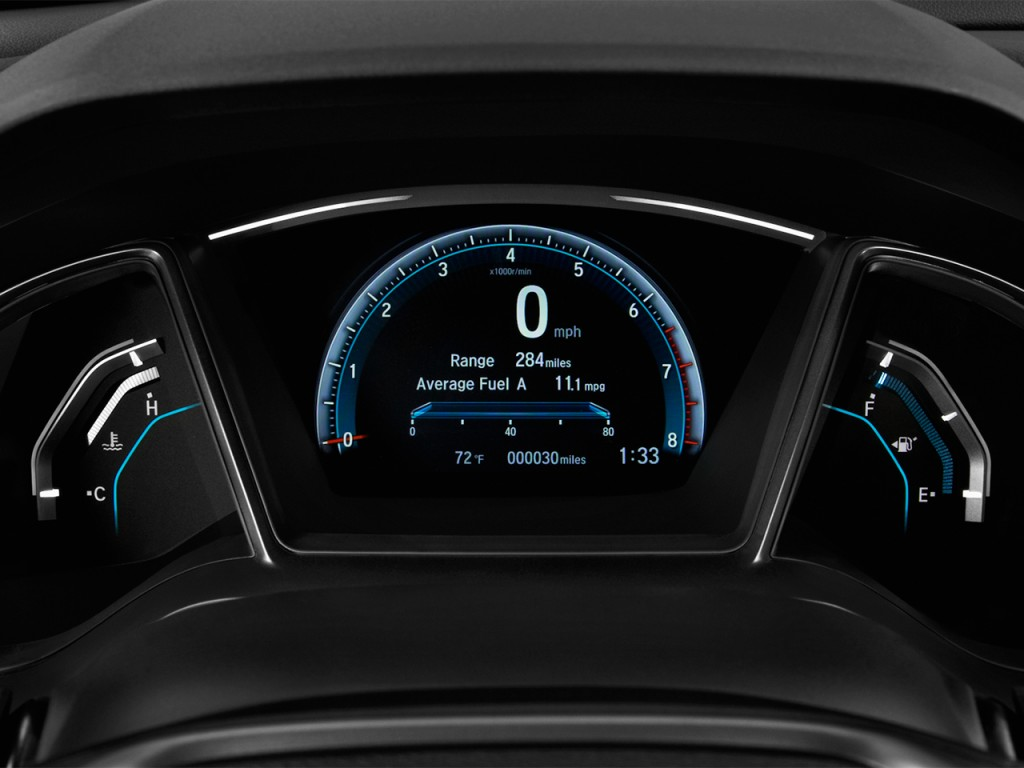 Image: 2017 Honda Civic Hatchback EX CVT Instrument ...
