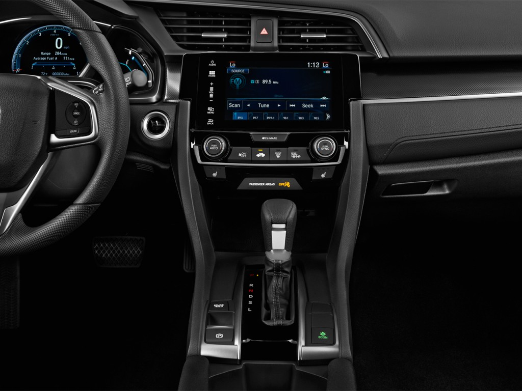 New Honda Accord >> Image: 2017 Honda Civic Hatchback EX CVT Instrument Panel ...