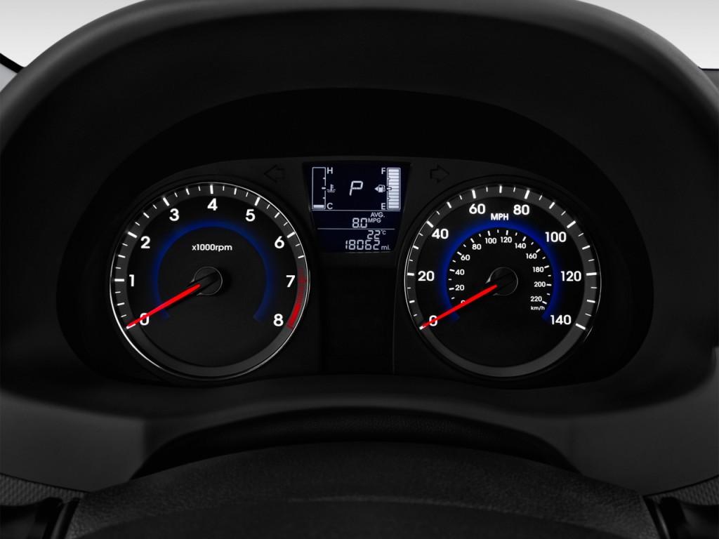 Image: 2017 Hyundai Accent SE Hatchback Automatic Instrument Cluster, size: 1024 x 768, type ...