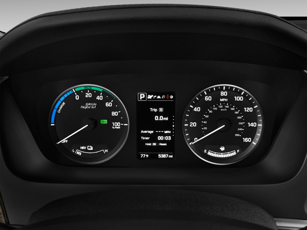 Image 2017 Hyundai Sonata Plug In Hybrid Limited 2 0l Instrument Cluster Size 1024 X 768