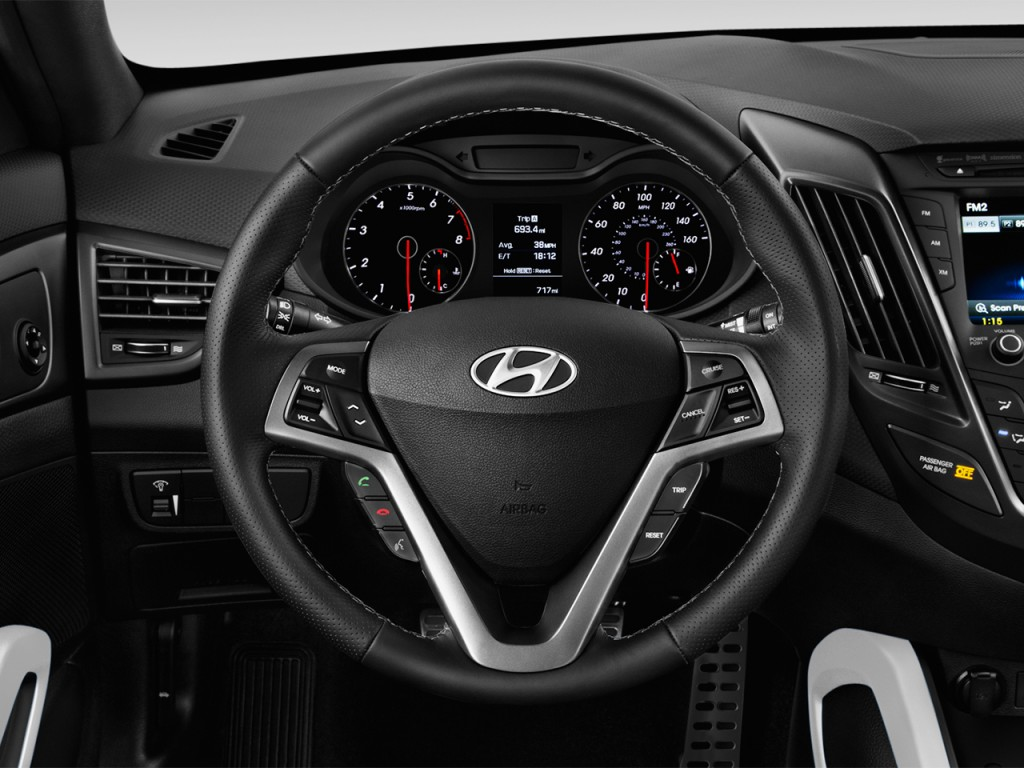 Image: 2017 Hyundai Veloster Turbo Manual Steering Wheel ...