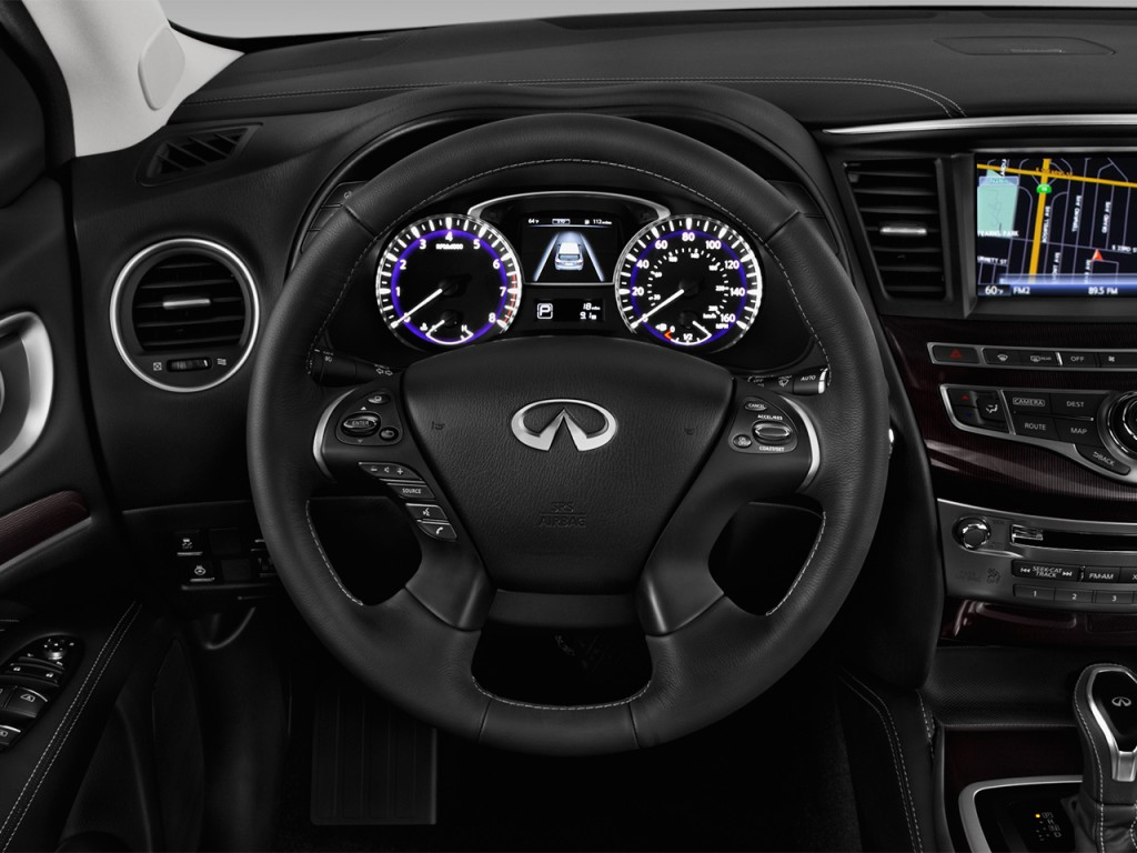 Image: 2017 INFINITI QX60 Hybrid FWD Steering Wheel, size ...