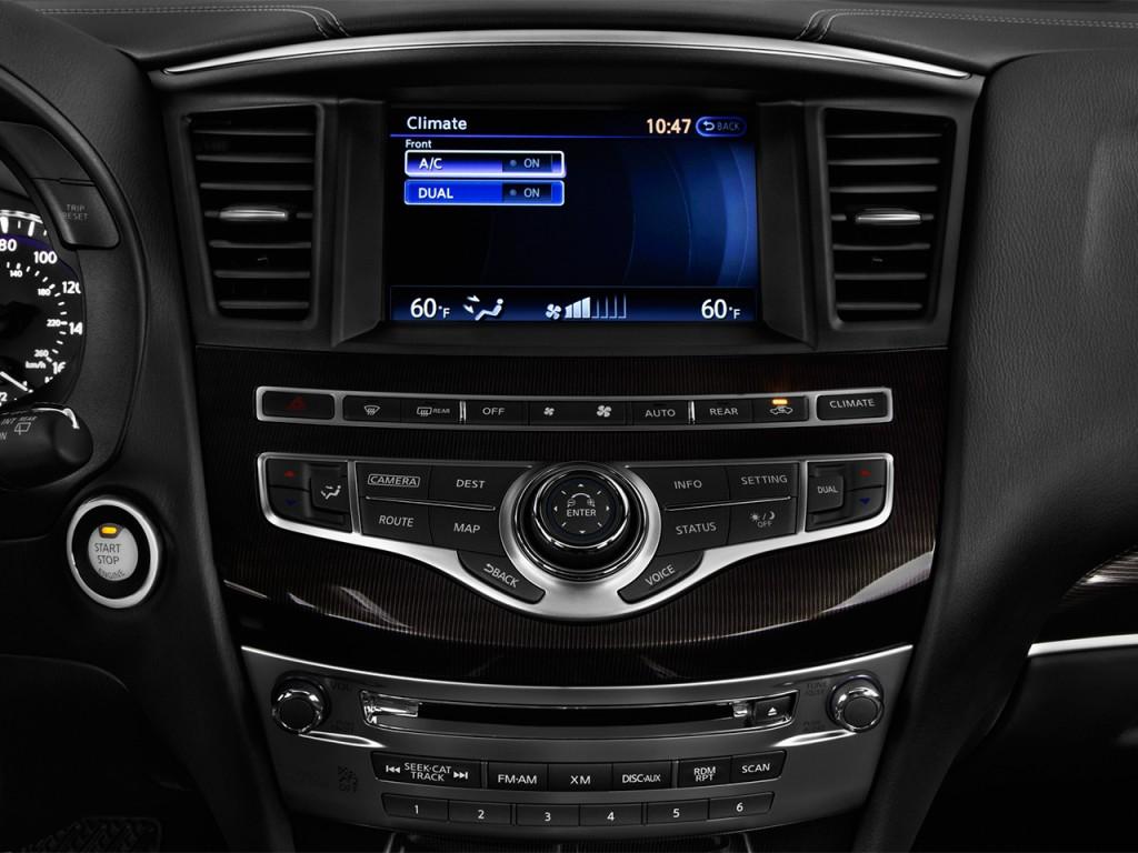 Image: 2017 INFINITI QX60 Hybrid FWD Temperature Controls ...