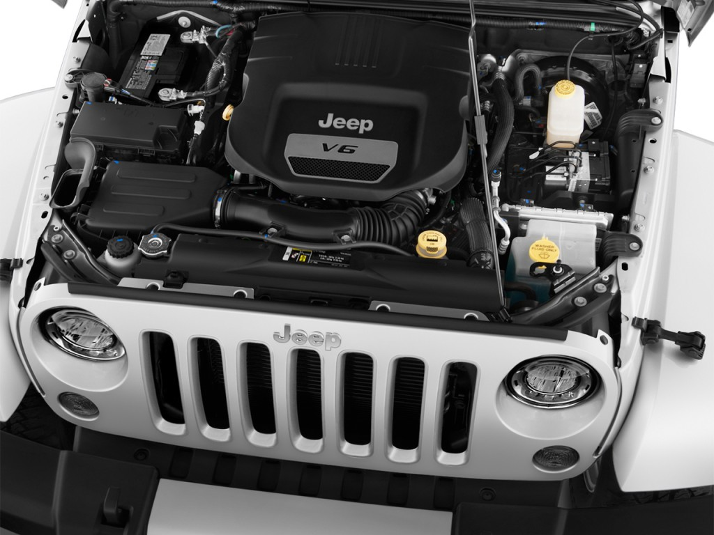 Image: 2017 Jeep Wrangler Unlimited Sahara 4x4 Engine ...