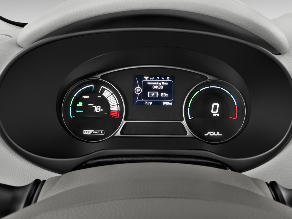 Image: 2017 Kia Soul EV EV Auto Instrument Cluster, size ...