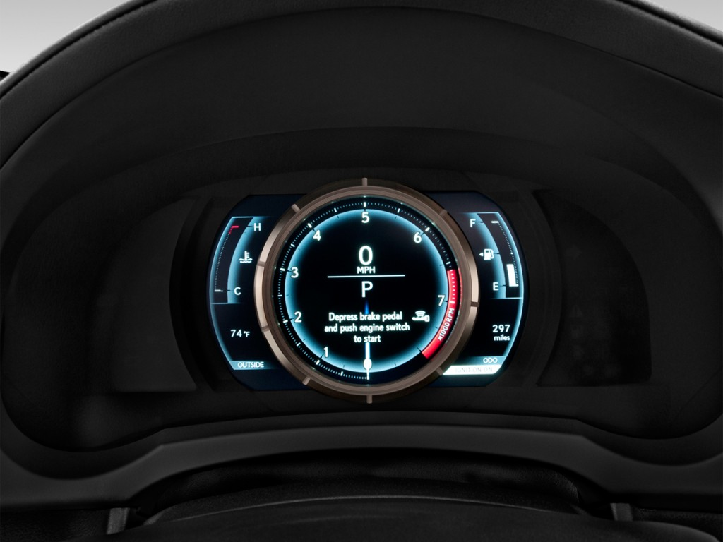 image 2017 lexus rc rc 350 f sport rwd instrument cluster size 1024 x 768 type gif posted. Black Bedroom Furniture Sets. Home Design Ideas